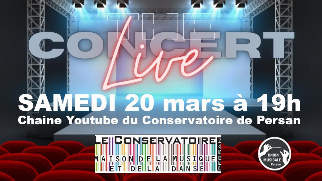 5ème Concert Live Samedi 20 mars 19h00