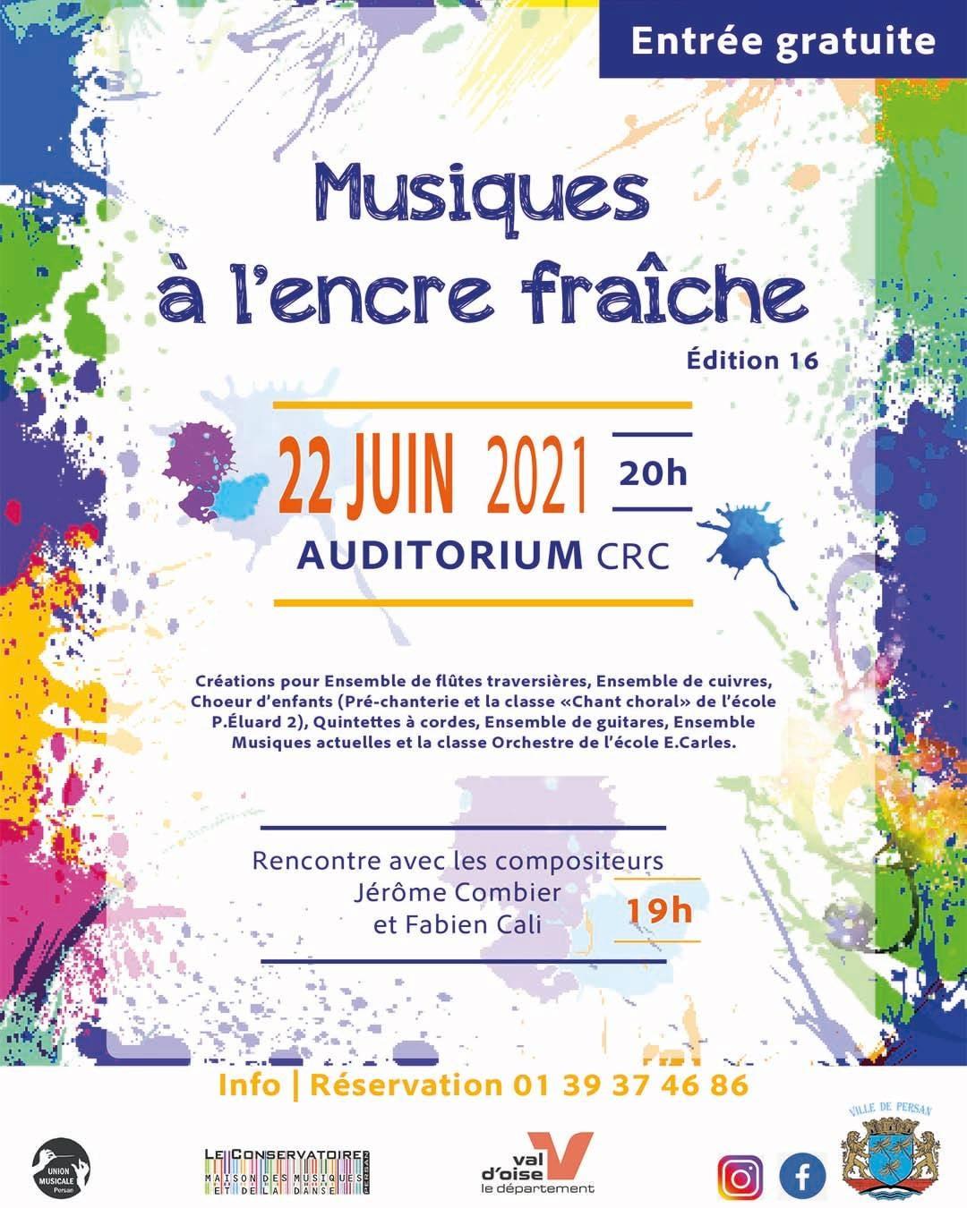 Musiques à L'Encre Fraîche 16ème édition - Mardi 22 Juin 2021