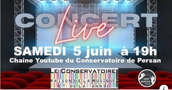 Concert Live 5 Juin à 19h00